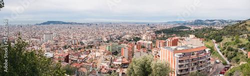 fototapeta na ścianę Barcelona Skyline. Spain.