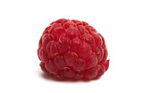 ripe raspberries isolated
