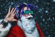 Leinwanddruck Bild - bright stylish santa