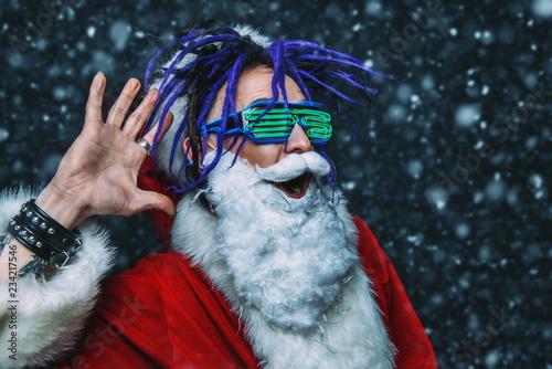 Leinwanddruck Bild bright stylish santa