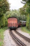Train de voyageurs à vapeur en gare, monument historique, Baie de Somme, Picardie, Hauts de France