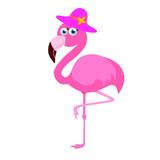 cute pink flamingo © NATALIIA KRASNENKO