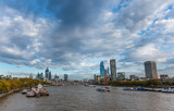 River Thames and The City of London, England