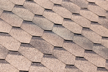 Covering tiles on the roof of a building as a background