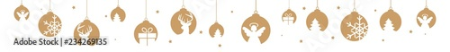 christmas banner golden hanging decorations objects xmas - 234269135