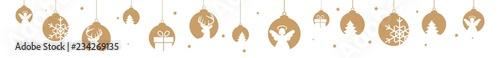 boże narodzenie sztandaru dekoracj złotych wiszących przedmiotów xmas