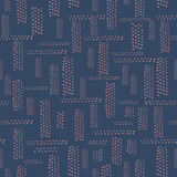 Abstract seamless design pattern of horizontal and vertical dotted segments on dark background. Great for business to show connectivity, technology, communications and city topics in graphic projects.