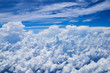 cloudscape and blue sky view from aerial aircraft window - 234278985