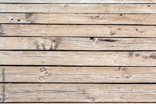 Fond ponton bois