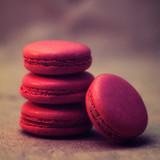 Strawberry macarons close-up photo - 234283744
