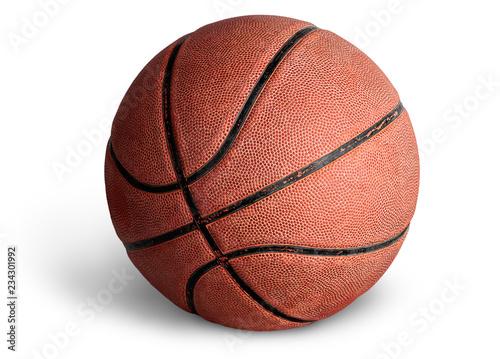 Leinwandbild Motiv Old basketball ball