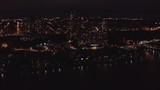 Aerial VIew New York City Night Helicopter - 234302374