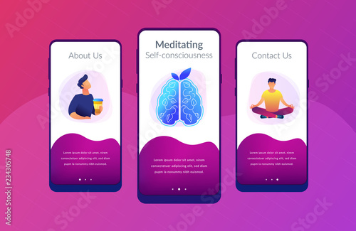 User practicing mindfulness meditation in lotus pose  Calmness and