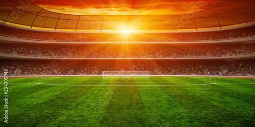 Green soccer stadium