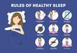 Rules of healthy sleep. Bedtime routine for good sleep