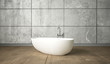 Leinwandbild Motiv Ceramic white bath in minimalism design