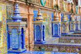 historical tiled building exterior at the Plaza de Espana, Seville, Spain - 234323711