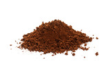 Brown instant coffee powder