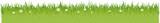 grüne Wiese mit Blumen Gras Flat Design isoliert auf weißem Hintergrund - 234327577