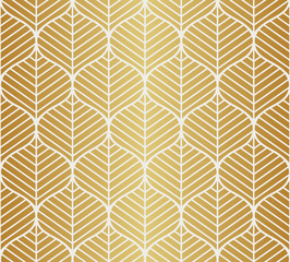 Vector Leaves Seamless Pattern. Abstract Grid Background. Geometric texture. © Mangata