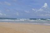 beach, sea, ocean, sand, sky, water, blue, summer, coast, tropical, clouds, wave, waves, landscape, travel, nature, vacation, surf, seascape, holiday, shore, cloud, island, sun, horizon