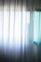 Hotel bedroom net curtains window
