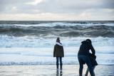 Spaziergänger am Strand