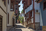 Street and houses from the period of Bulgarian revival in old town of city of Plovdiv, Bulgaria © Stoyan Haytov