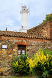 Stone houses and lighthouse in Colonia del Sacramento, Uruguay