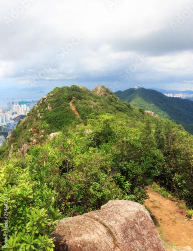 fototapeta na ścianę Top Of Lion Rock Country Park In Hong Kong