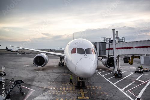 Airliner geparkt am gate