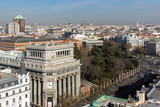 Amazing Panoramic view of city of Madrid from the roof of Circulo de Bellas Artes, Spain © Stoyan Haytov