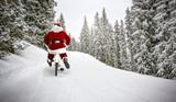 Santa Claus on winter road  - 234465731