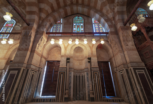 Marble Wall With Mihrab Embedded Niche Two Wooden Doors Huge