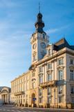 Warsaw, Poland - Jablonowski Palace building at Theatre Square and Senatorska street in the historic quarter of Warsaw old town - 234482393