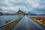 Road in Norway in winter © Dmitry Rukhlenko