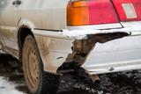 broken car bumper