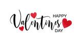 Happy Valentine's day watercolor vector illustration. - 234489368
