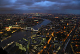 Night view of the Tower Bridge in London from the Shard © Igor S.