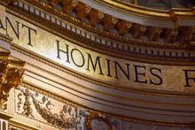 "Постер, картина, фотообои ""Golden detail of the interior of the Basilica of Sant"