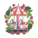 Horses carrousel game park © Jemastock