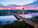 Beautiful sunset city panorama in Warsaw - 234531753