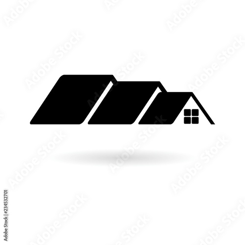 Black Home Roof Icon House Roof Icon Logo Buy Photos Ap Images