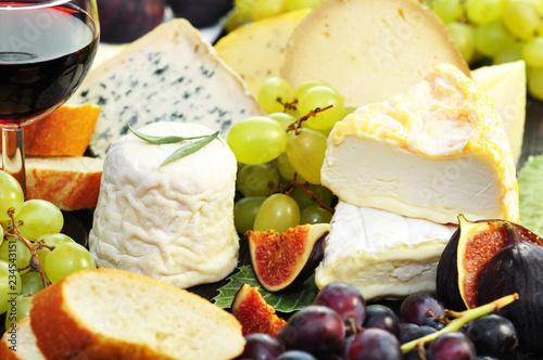 Leinwanddruck Bild Käseplatte