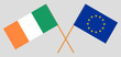 Ireland and EU. The Irish and European Union flags. Official colors. Correct proportion. Vector - 234561953