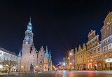 Wroclaw Old Town Hall at night