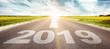 Leinwanddruck Bild - Vorwärts ins neue Jahr 2019!