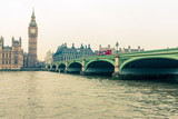 A view of Westminster Bridge and the Houses of Parliamentfrom the south bank of the River Thames