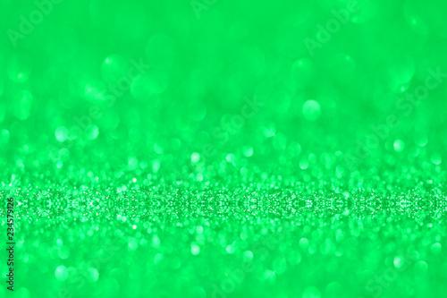 green glitter texture christmas abstract background, Defocused abstract green glitter texture background - 234579126