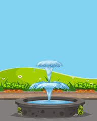Fountain in the nature © brgfx